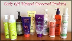 Curly Girl Method Approved Products. (product lists and a smattering of reviews)