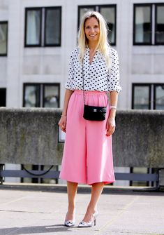 Undecided about culottes but this color is really selling 'em to us.