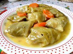 Λαχανοντολμάδες νηστίσιμοι με σάλτσα λεμονιού
