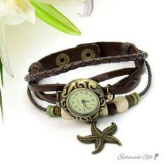 PU Leder Armbanduhr  Vintage SEESTERN  dunkel braun  im...