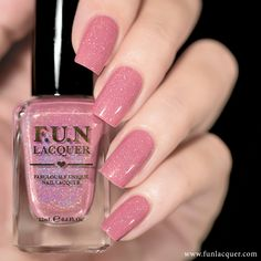 """Daydream is a soft baby pink holographic polish with holo flakes. This polish can be worn alone in 2-3 coats!* I also want TRUMP, Happiness, and Powerful        <a target=""""_blank"""" href=""""http://www.funlacquer.com/shop-policies""""><font color=""""gold"""""""