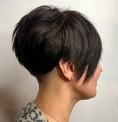 Razored Pixie with Shaved Nape Pixie Cut With Undercut, Pixie Haircut For Thick Hair, Short Hairstyles For Thick Hair, Short Pixie Haircuts, Short Hair Cuts, Short Hair Styles, Pixie Styles, Pixie Cuts, Shaved Hair Women