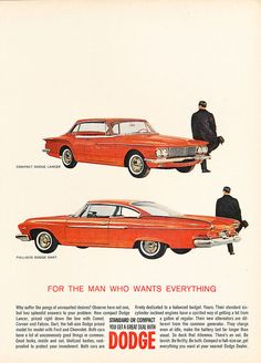 1961 Dodge Lancer and Dart -  Original Car Advertisement Print Ad J143