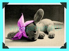 1930s Vintage Crochet Pattern   Pippy the Puppy   get well sick pooch dog toy needs good home   Direct from UK by VintageCraftsPDF