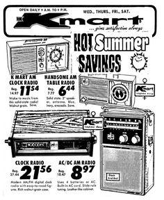 Kmart Radios - 1973