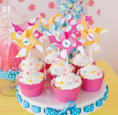 Pretty Polka Dots & Pinwheels First Birthday Party