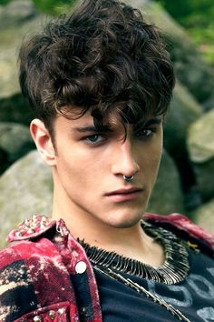 Top 5 Curly Hairstyles for Men #style #hair: Guys With Curly Hair, Mens Short Curly Hair, Long Curly Hair Men, Short Hair Styles, Short Curls, Short Wavy, Male Haircuts Curly, Men's Hairstyles Curly, Haircuts For Men