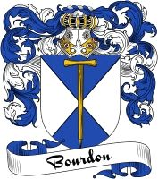 Bourdon Coat of Arms  Bourdon Family Crest   VIEW OUR FRENCH COAT OF ARMS / FRENCH FAMILY CREST PRODUCTS HERE