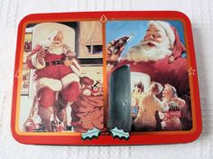 Coca-Cola Nostalgia Playing Card Tin with Two Unopened Decks of Cards - 1995 #CocaCola