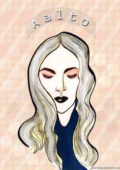 aalto, f/w 2016, fashion illustration by bonnie.w