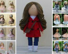 Green doll Textile doll Rag doll Baby doll por AnnKirillartPlace
