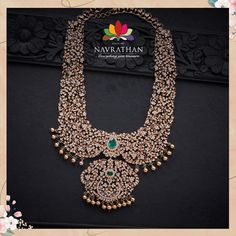 Gold Jewellery Design, Bridal Jewellery, Wedding Jewelry, Gold Jewelry, Jewelry Accessories, Diamond Necklaces, Diamond Jewellery, Jewelry Necklaces, Vaddanam Designs