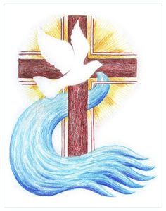 I'm going to be baptized this year during the Easter Vigil. Embroidery Patterns, Hand Embroidery, Quilt Patterns, Religiosidad Popular, Easter Vigil, Baptism Banner, Première Communion, Christian Artwork, Altar Cloth