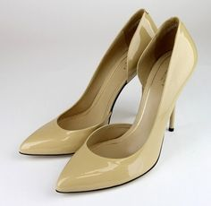 Gucci Noah Patent Leather Heel Cutout 284145 New Beige Pumps. Get the must-have pumps of this season! These Gucci Noah Patent Leather Heel Cutout 284145 New Beige Pumps are a top 10 member favorite on Tradesy. Save on yours before they're sold out!