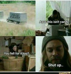 Walking Dead Jokes, Carl The Walking Dead, The Walk Dead, The Walking Death, Walking Dead Zombies, Z Nation, Twd Memes, Funny Memes, Psych Memes