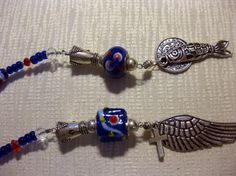 SOJOURN Lampwork blue floral lariat by blingbychristine on Etsy, $15.00