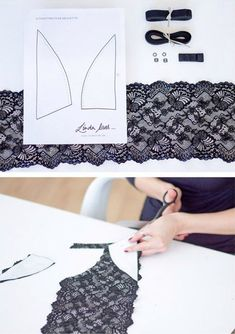Diy Crafts - VK is the largest European social network with more than 100 million active users. Lingerie Patterns, Sewing Lingerie, Lace Lingerie Set, Bralette Pattern, Bra Pattern, Sewing Lace, Free Sewing, Sewing Clothes, Diy Clothes