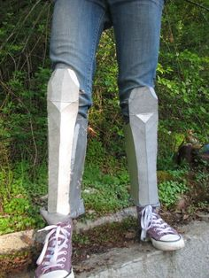 How to Make Greaves (Leg Armor) by StandingOnStones via Instructables