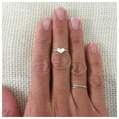 dainty sterling silver heart midi ring on twisted by JCLDesigns, $17.00