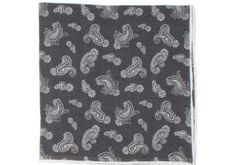 Washed Silk Paisley Pocket Square - Brown | Howard Yount