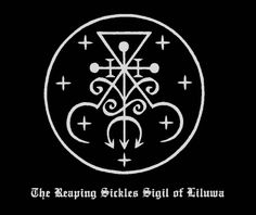 "N.A-A.218 - Seven Sigils of Qalmana (Lady of the Reaping Sickle), ""Liber Falxifer II: The Book of Anamlaqayin"", 2011."