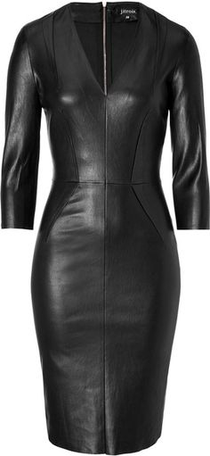 Leather Dress in Black - Lyst