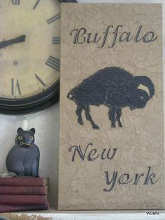 Buffalo New York / Recycled brown paper / FREE LOCAL by vicarlo, $75.00