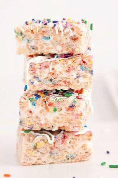 Confetti Rice Krispy Treats   Sprinkles for Breakfast