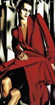 by artist Tamara Lempicka aka Tamara de Lempicka, (b.May 1898 Warsaw Poland - d. March Cuernavaca, Mexico) was a Polish Art Deco painter. Art Deco Artists, Art Deco Paintings, Art Deco Artwork, Pinturas Art Deco, Tamara Lempicka, Moda Art Deco, Estilo Art Deco, Art Deco Stil, Art Deco Movement