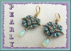 square earrings mint opal