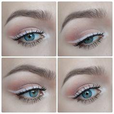 Emilia Clarke Pink Eyeshadow Tutorial www.dazzlelight1991.blogspot.com