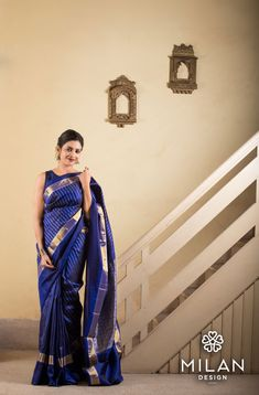 Milan offers a wide variety of Designer, Bridal & Wedding Sarees Online Kochi, Kerala, India. Silk Saree Kanchipuram, Silk Sarees, Saris, Wedding Sarees Online, Saree Wedding, Saree Blouse Patterns, Saree Blouse Designs, Diva Fashion, Fashion Wear
