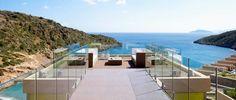 Daios Cove Luxury Resort & Villas, Aghios Nikolaos. Set on the tranquil Vathi beach in Crete, the Daios Cove Resort and Luxury Villas is one of the finest 5 star hotels in Agios Nikolaos, Crete Island. http://www.sovereign.com/hotel/118431