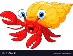 Hermit crab Illustrations and Clip Art. 389 Hermit crab royalty free illustrations and drawings available to search from thousands of stock vector EPS clipart graphic designers. Fish Drawings, Cartoon Drawings, Fish Drawing For Kids, Crab Cartoon, Crab Illustration, Inkscape Tutorials, Crab Art, Partys, Free Illustrations