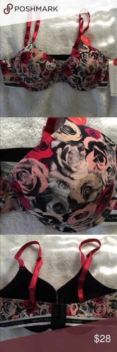 Beauttil Bra NWT. Good seamless support with nice padding; pretty floral design. Marilyn Monroe Intimates & Sleepwear Bras