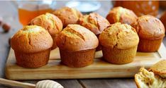 Soft and Fluffy Lean Honey Cupcakes - Kitchen Cookbook Honey Cupcakes, Baking Recipes, Dessert Recipes, Milk Cake, Honey And Cinnamon, Special Recipes, Tray Bakes, Baked Goods, Delicious Desserts