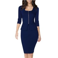 Elegant Womens Business Suits Blazer with Skirts Formal Office Suits Work Zipper Ladies Uniform Designs Pencil Dress for Women