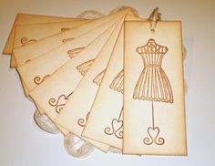 Wire Dress Form Gift Tags Favor Tags Pricing Tags by TrulyAllie