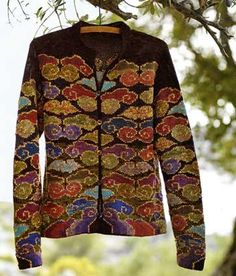 Kaleidoscope Cardigan for Peruvian Connection by Kaffe Fassett Knitting Designs, Knitting Projects, Knitting Patterns, Fair Isle Knitting, Knitting Yarn, Fair Isle Pattern, How To Purl Knit, Bunt, Mantel
