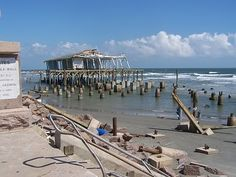 The Balinese Room after hurricane Ike