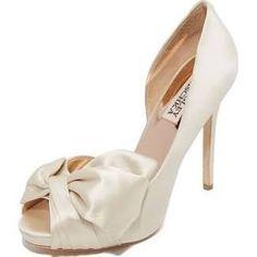 satin heels bows