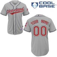 d7aeab227 Buy Customized Cleveland Indians Jersey Grey Road Cool Base Baseball For  Sale from Reliable Customized Cleveland Indians Jersey Grey Road Cool Base  Baseball ...