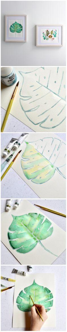 Watercolour technique: Wet-on-Wet // Technique d'aquarelle : Humide sur humide