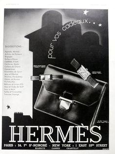 Hermes bag and watches vintage advertising Hermes poster by OldMag