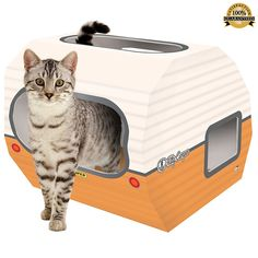 Kitty Cardboard Camper | Gift Guide | For the Cat Lover | For the Animal Lover | For Her | For Him | Affiliate