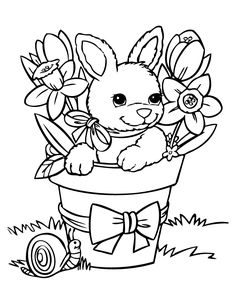 215 Best Easter digi\'s images | Digi stamps, Digital stamps, Rabbits