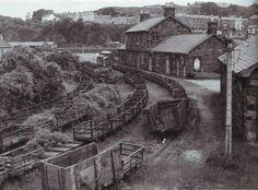 Portmadoc (now Porthmadog) Harbour Station, after closure, pre preservation. Heritage Train, Old Train Station, Disused Stations, Old Trains, Snowdonia, Model Train Layouts, North Wales, Steam Locomotive, Model Trains
