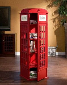 English phone booth in the house! - http://noveltystreet.com/item/10858/