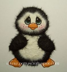 Penny the Penguin Tear Bear Paper Piecing Patty by babygirl24