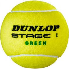 BALL/BOLA TENNIS/TÊNIS DUNLOP -  STAGE/ESTÁGIO 01 - GREEN/VERDE International Tennis Federation, Play And Stay, Green, Stage, Sport, Block Prints, Tennis